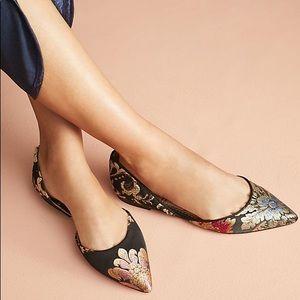 Sam Edelman Shoes - Sam Edelman Floral Brocade Rodney d'Orsat Flats